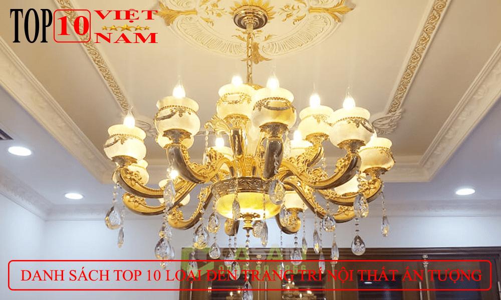 thiết kế trang trí nội thất đèn chùm pha lê