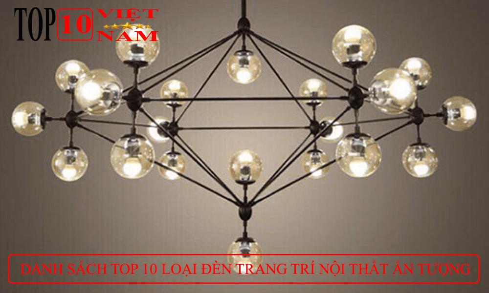 thiết kế trang trí nội thất đèn chùm thả
