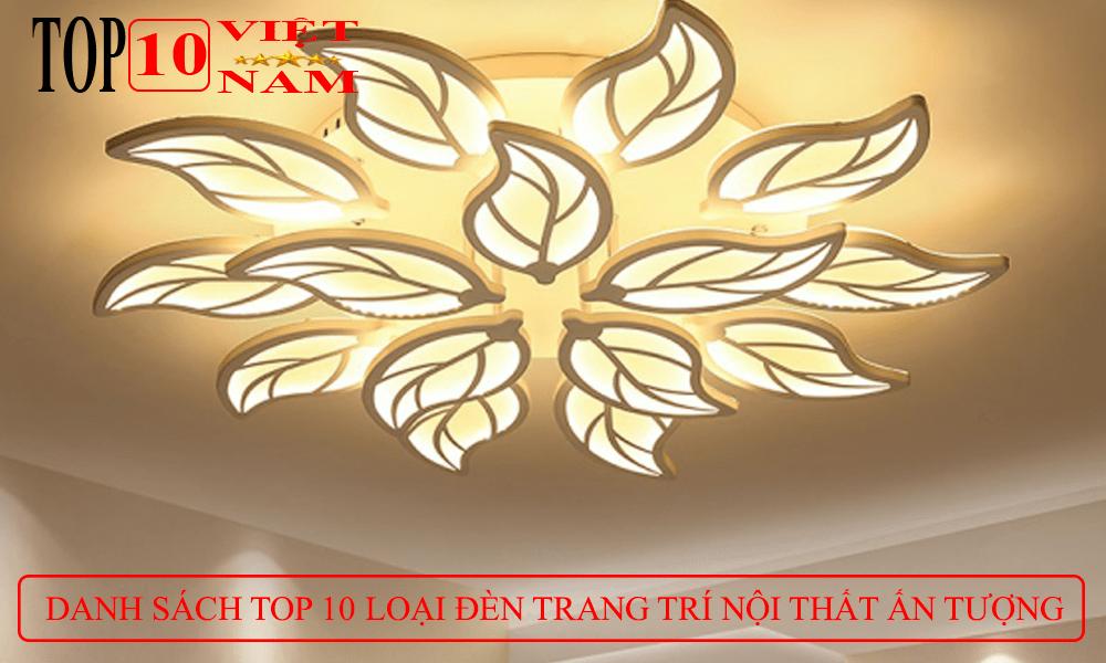 mẫu thiết kế trang trí nội thất đèn mâm