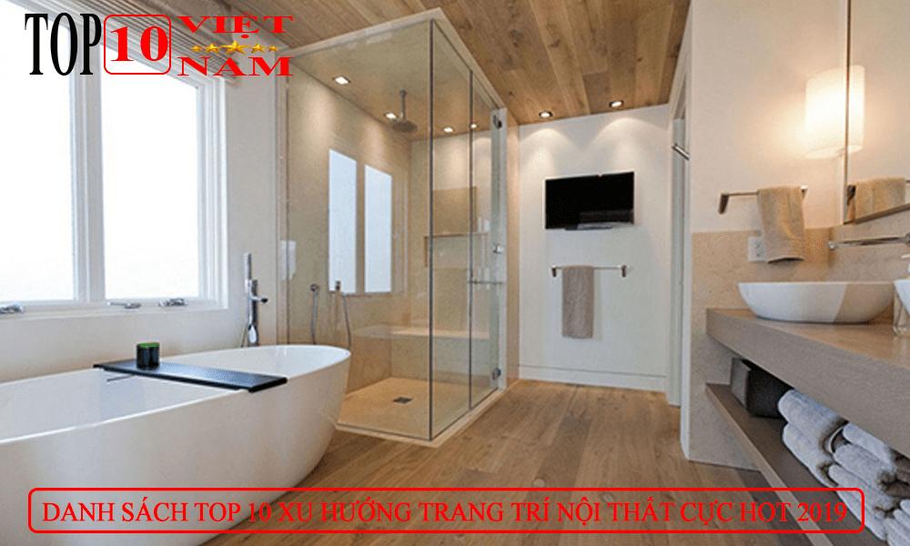 trang trí nội thất phòng tắm hiện đại