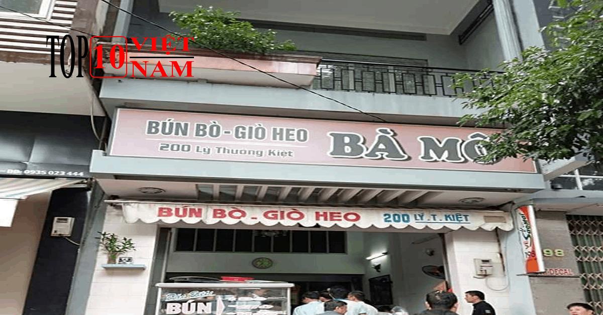Quán Bún Bò Bà Mô Ngon Tại Buôn Ma Thuột